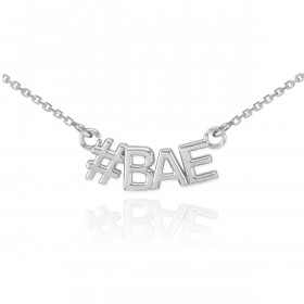 #BAE Pendant Necklace in 9ct White Gold