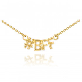#BFF Pendant Necklace in 9ct Gold