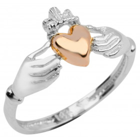 Heart Claddagh Ring in 9ct White Gold