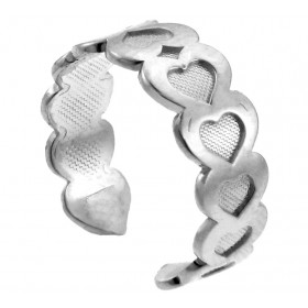 Heart Toe Ring in 9ct White Gold