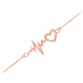 Heartbeat Bracelet in 9ct Rose Gold