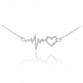 Heartbeat Pendant Necklace in Sterling Silver