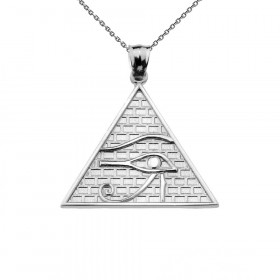 Horus Pendant Necklace in 9ct White Gold