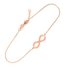 Infinity Bracelet in 9ct Rose Gold