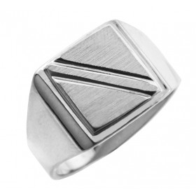 Jove Signet Ring in 9ct White Gold