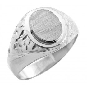 Jovian Signet Ring in 9ct White Gold