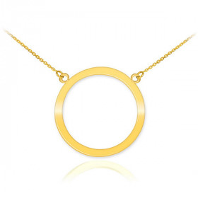 Karma Circle of Life Pendant Necklace in 9ct Gold