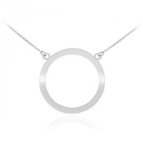 Karma Circle of Life Pendant Necklace in 9ct White Gold