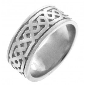 Knot Ring in 9ct White Gold