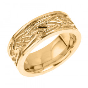 Knot Unisex Decorative Wedding Ring in 9ct Gold