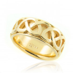 Knot Weave Wedding Ring in 9ct Gold
