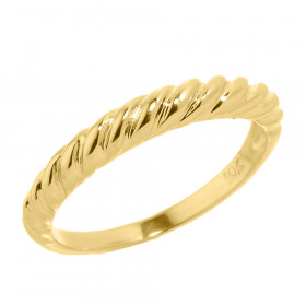 Knuckle Twisted Rope Ring in 9ct Gold
