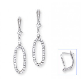 Leverback Drop Earrings in 9ct White Gold
