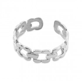 Link Toe Ring in 9ct White Gold