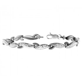 Lobster Claw Bracelet in 9ct White Gold