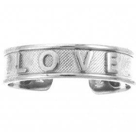 Love Toe Ring in 9ct White Gold