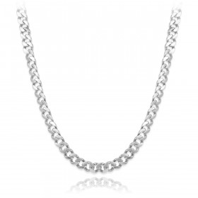 Men's 10mm Cuban Chain in 9ct White Gold