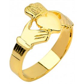Men's Claddagh Ring in 9ct Gold