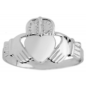 Men's Claddagh Ring in Sterling Silver