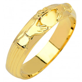 Men's Claddagh Wedding Ring in 9ct Gold