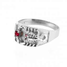 Men's CZ Scorpion Ring in 9ct White Gold