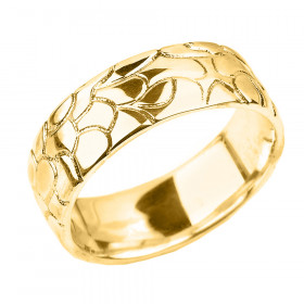 Men's Decorative Wedding Ring in 9ct Gold