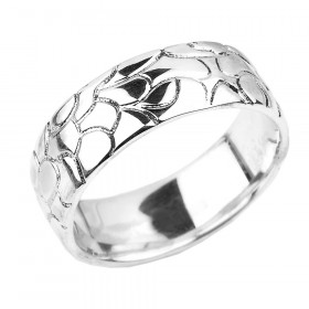 Men's Decorative Wedding Ring in Sterling Silver