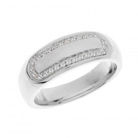 Men's 0.25ct Diamond Accented Ring in 9ct White Gold