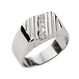 Men's 0.32ct Diamond Ring in 9ct White Gold