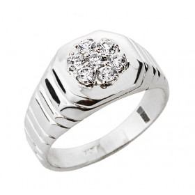 Men's 0.28ct Diamond Ring in 9ct White Gold