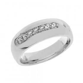Men's 0.45ct Diamond Ring in 9ct White Gold