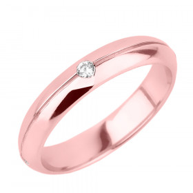 Men's Diamond Wedding Ring in 9ct Rose Gold
