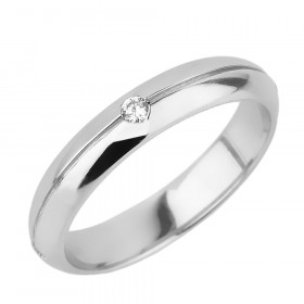 Men's Diamond Wedding Ring in 9ct White Gold