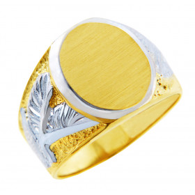 Men's Eagle Signet Ring in 9ct Two-Tone Gold