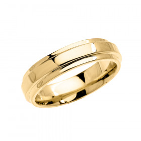 Men's Elegant Double Layered Decorative Wedding Ring in 9ct Gold