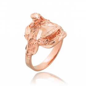 Men's Horse Saddle Ring in 9ct Rose Gold