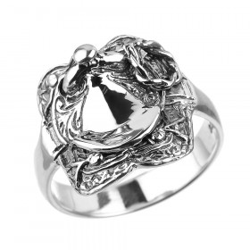 Men's Horse Saddle Ring in Sterling Silver