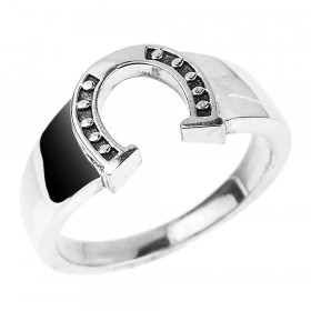 Men's Horseshoe Ring in Sterling Silver