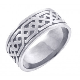 Men's Knot Band in 9ct White Gold