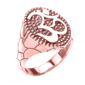 Men's Om (Ohm) Ring in 9ct Rose Gold