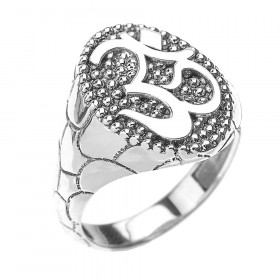 Men's Om (Ohm) Ring in Sterling Silver