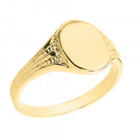 Men's Oval Signet Ring in 9ct Gold