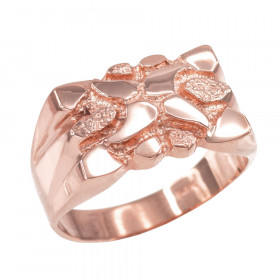 Men's Textured Ring in 9ct Rose Gold