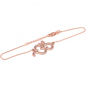 Om (Ohm) Bracelet in 9ct Rose Gold