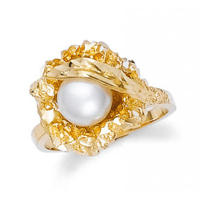 Pearl Bold Ring in 9ct Gold