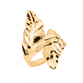 Precision Cut Double Laurel Wreath Filigree Ring in 9ct Gold