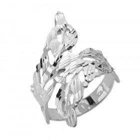 Precision Cut Laurel Wreath Wrap Filigree Ring in Sterling Silver