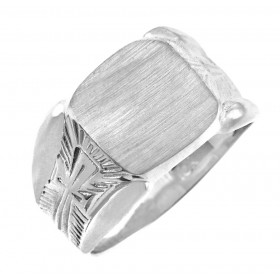 Protector Signet Ring in 9ct White Gold
