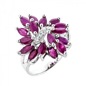 Ruby Ring in 9ct White Gold