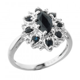 1.0ct Sapphire Beauty Ring in Sterling Silver